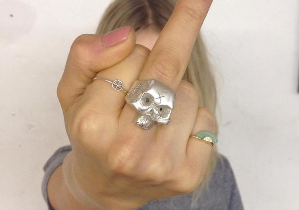 Solid Silver Skull Ring – New Release