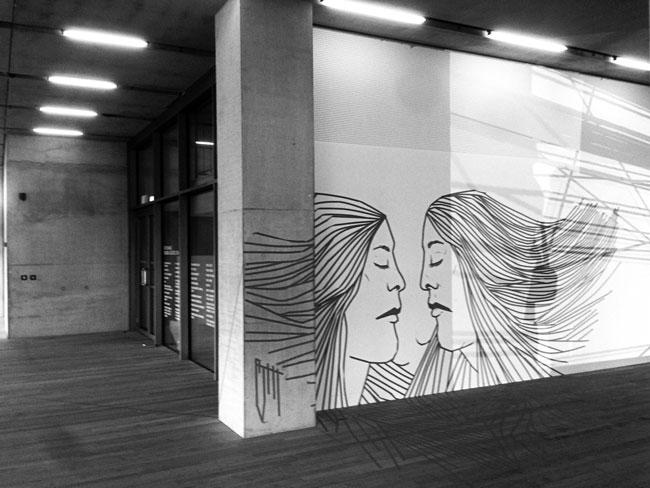 Tate Modern Tape Drawing