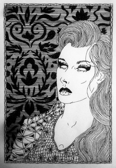 A Rebours – Stitch Drawing